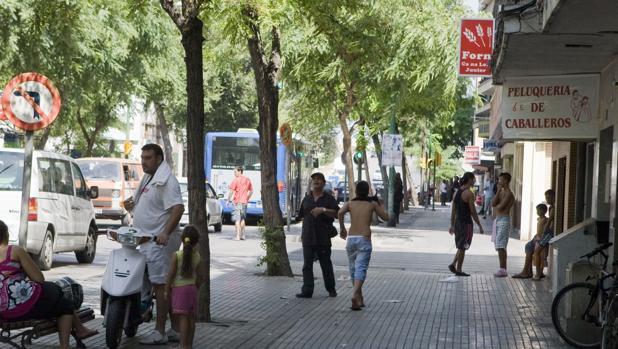 Calle Indalecio Prieto del barrio palmesano de Sont Gotleu
