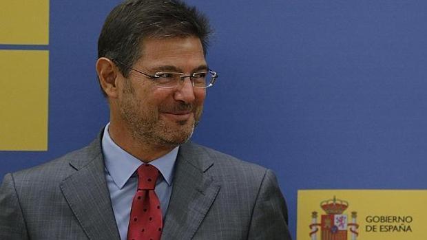 El ministro de Justicia en funciones, Rafael Catalá, en una imagen de archivo