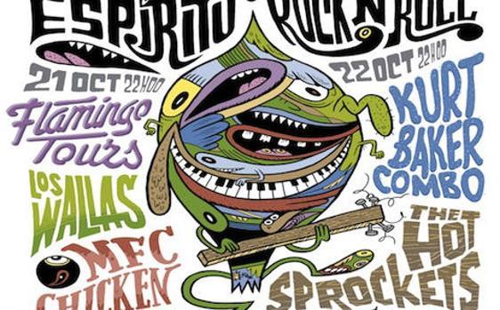 Cartel de la Fiesta Espíritu de Rock'n'Roll
