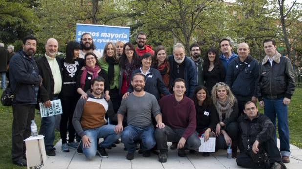 Tania Sánchez junto con la candidatura de Leganemos