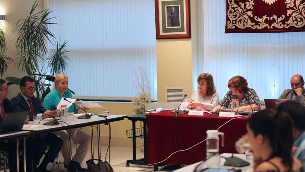 El Pleno de Hortaleza, ayer, durante la votación de la polémica propuesta