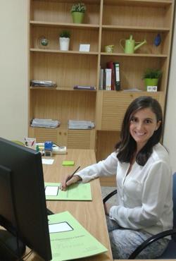 Cristina Fernández Cámara, en su despacho en Barrax (Albacete)