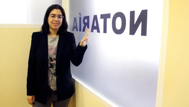 Andrea Ibarra Blanco, en la notaría de Calera y Chozas (Toledo)