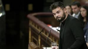 Rufián se reafirma en sus ataques al PSOE: «Algunos hablan tanto de mí para no hablar de otras cosas»