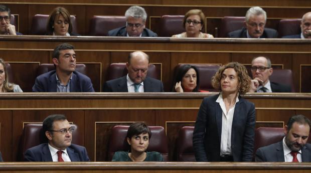 La diputada Meritxell Batet, del PSC, durante la reciente sesión de investidura