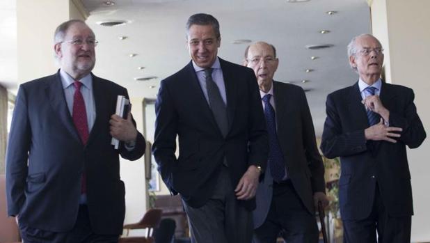 Zaplana, en un acto público en el Club Financiero en Madrid
