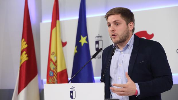 El portavoz regional, Nacho Hernando, durante la rueda de prensa para dar a conocer los acuerdos del Consejo