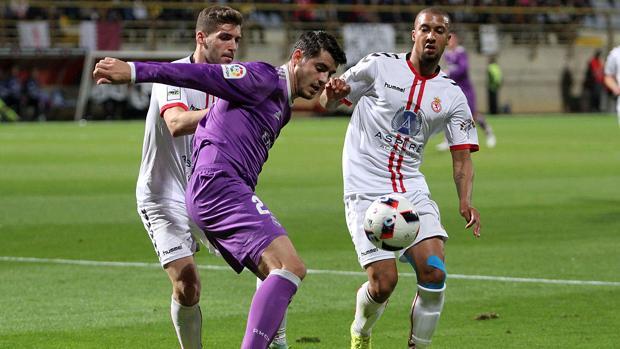 La Cultural Leonesa, en su encuentro frente al Real Madrid en la Copa del Rey