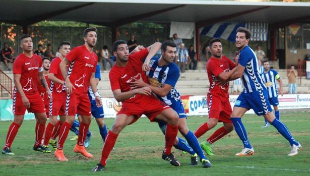 Imagen del primer partido de la temporada, en el que el Talavera ganó 3-0 al Conquense