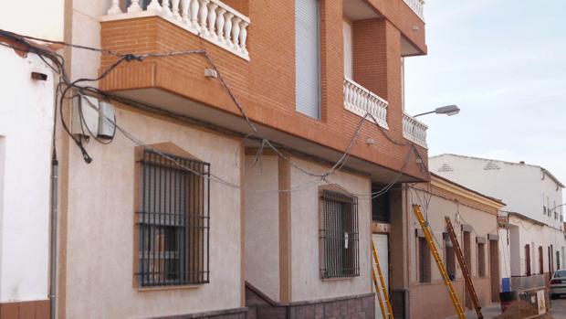 Vivienda afectada por el escape de gas en Argamasilla de Alba