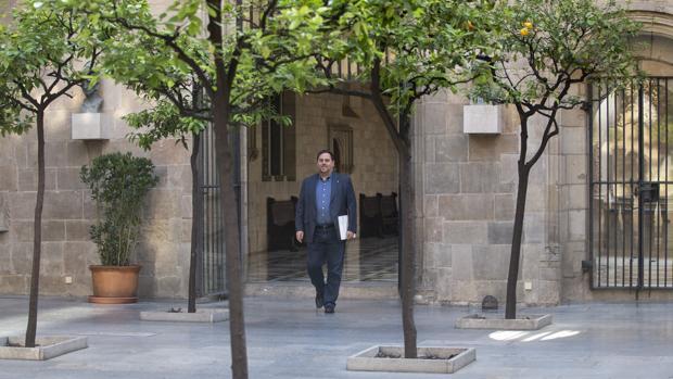 Oriol Junqueras, ayer en el Palau de la Generalitat