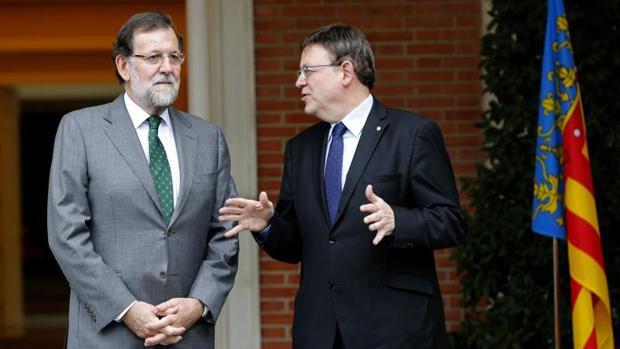 Puig con Rajoy en el Palacio de la Moncloa