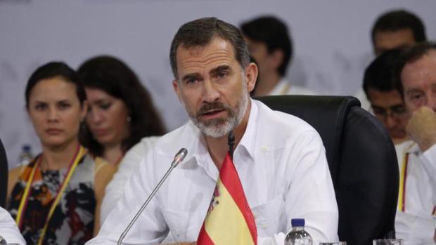 Don Felipe en su reciente visita a Colombia