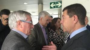 Ignacio Fernández Toxo, con el presidente García-Page en la inauguración del X Encuentro Regional de Salud Laboral