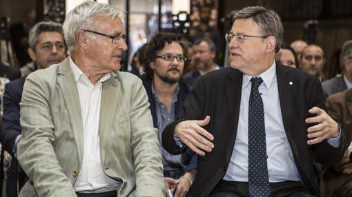 Imagen de Joan Ribó y Ximo Puig tomada este miércoles