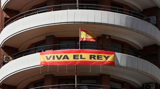 Imagen de la pancarta desplegada por el Marqués de Cáceres