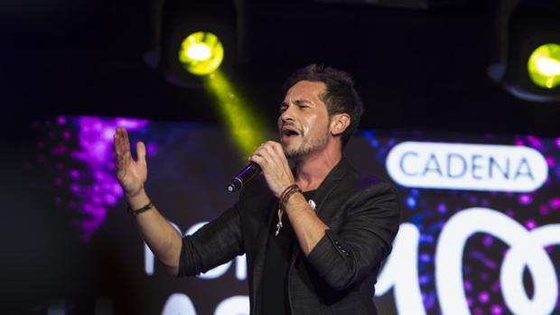 David de María, durante un concierto el pasado octubre