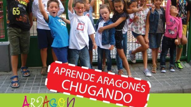 Cartel anunciador de los talleres de aragonés que ha promovido el Gobierno regional