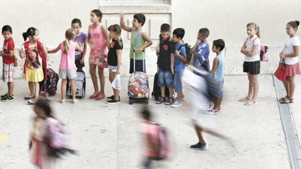 Imagen del inicio del curso escolar 2016-2017 en Valencia
