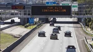 La lluvia da una tregua a la contaminación en Madrid