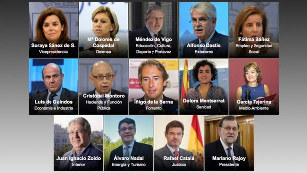 Santamaría sigue como vicepresidenta única y Cospedal va a Defensa