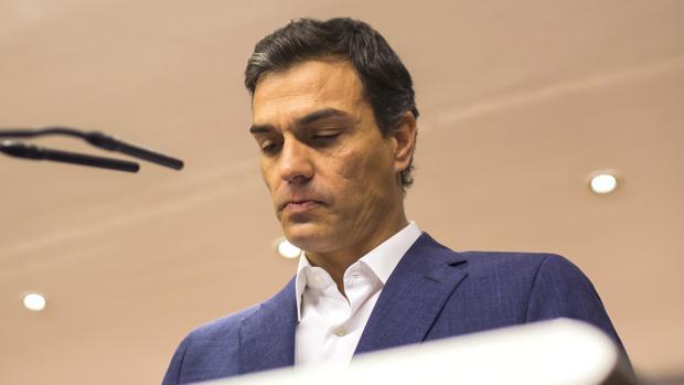 El ex secretario general del PSOE, Pedro Sánchez, el día de su dimisión