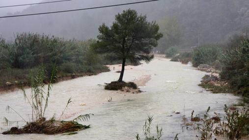 Río Girona tras desbordarse por la «gota fría» en octubre de 2007