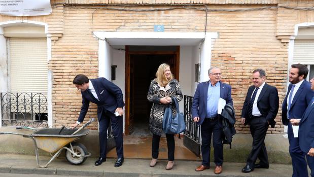 Suárez-Quiñones y Del Olmo, ayer en Valbuena de Duero (Valladolid)