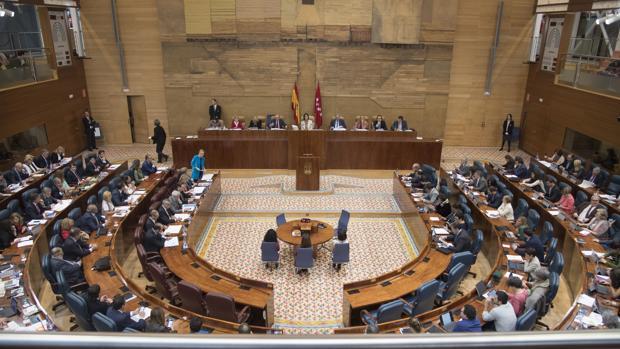 Último pleno celebrado en la Asamblea de Madrid