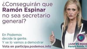 Cifuentes reprocha a Espinar que la utilice en Twitter como reclamo para liderar Podemos
