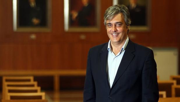 Pedro Puy, minutos antes de su entrevista con ABC