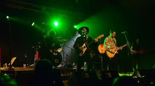 Los Wallas durante su actuación en el festival
