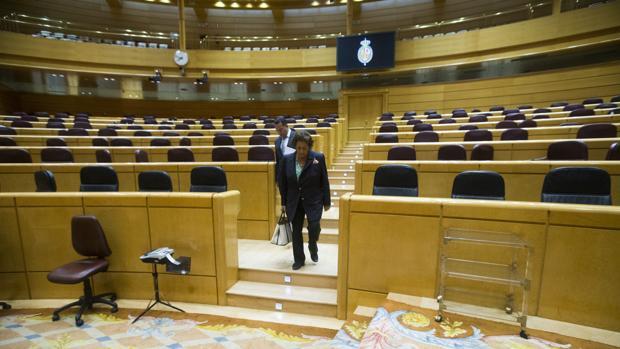 Imagen de Rita Barberá tomada en el Senado
