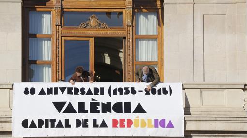 Detalle de la pancarta