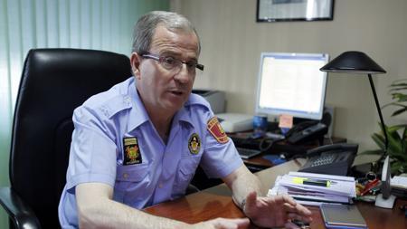 El jefe de los Bomberos de Ávila, Alfredo Delgado