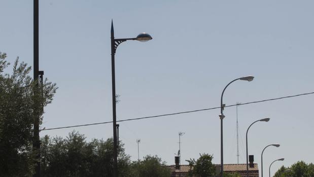 Imagen de archivo de un alumbrado eléctrico