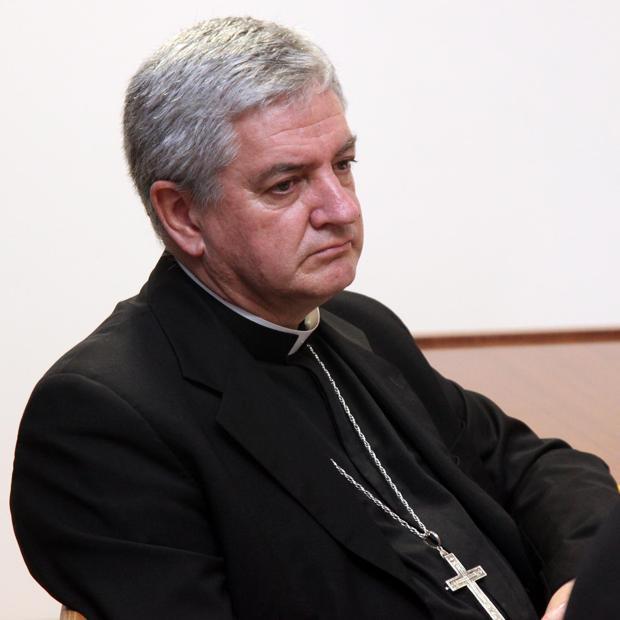 Monseñor Marc Aillet, durante su breve estancia en Santiago de Compostela