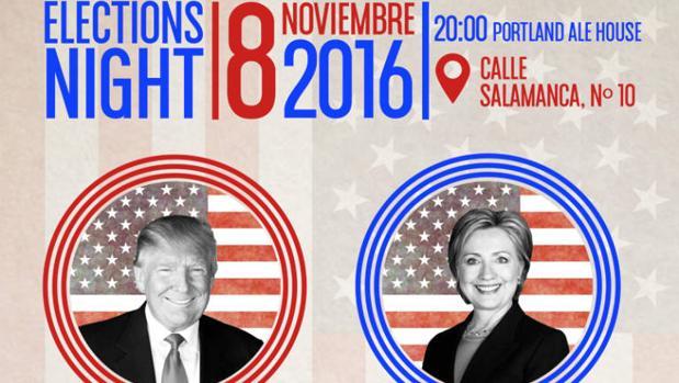 Cartel del evento sobre las elecciones americanas