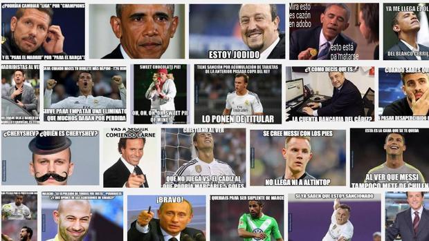 En la actualidad, miles de «memes» en clave de humor inundan la red