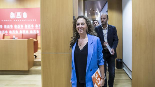 Carolina Punset, en las Cortes Valencianas, en una imagen de archivo