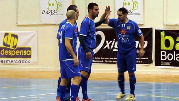 Los jugadores del FS Valdepeñas celebran un gol