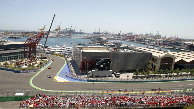 Imagen de una carrera de Fórmula Uno celebrada en Valencia