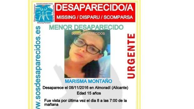 SOS Desaparecidos:  Hallada en buen estado en Tarragona la joven de 15 años desaparecida en Almoradí