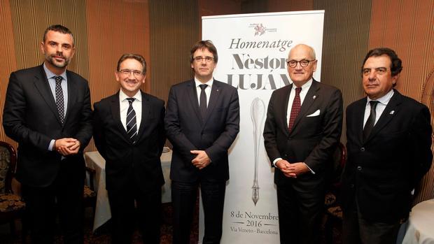 El presidente de la Genralitat, Carles Puigdemont, presidió el homenaje
