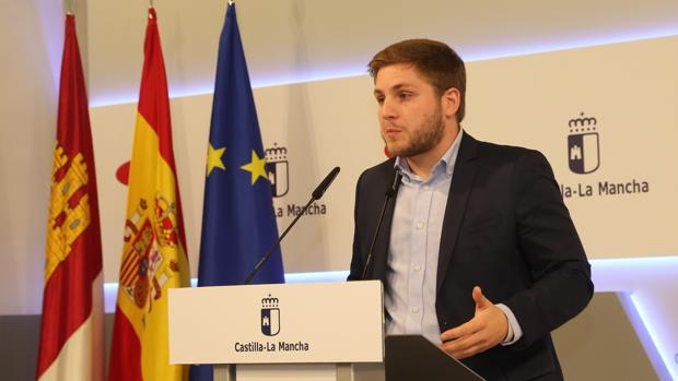 El portavoz regional, Nacho Hernando, durante su comparecencia para dar cuenta de los acuerdos de gobierno