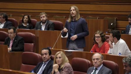 Pablo Fernández, durante el pleno