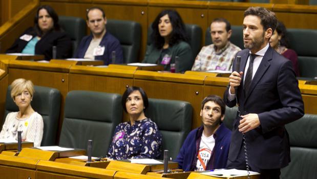 El portavoz del PP en el Parlamento vasco, Borja Sémper