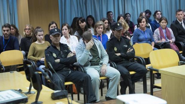 El presunto pederasta de Ciudad Lineal, Antonio Ortiz, en un momento del juicio en la Audiencia Provincial de Madrid