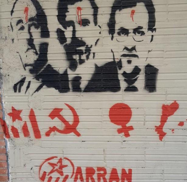 La pintada denunciado por el PPC