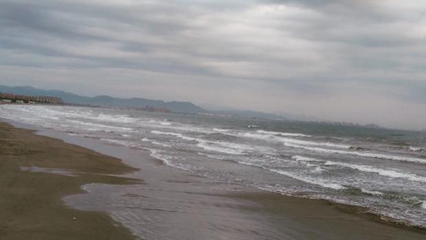 Imagen tomada en la playa de Las Arenas este otoño